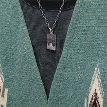他の写真3: ナバホ族 Darryl Begay モニュメントバレー 流星 トゥーファーキャスト スクエア ペンダント