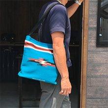 着用画像3: Ortega's チマヨ バッグ ターコイズブルー