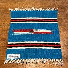 着用画像1: Ortega's チマヨ プレイスマット/ランチョマット 11×11 ターコイズブルー